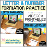 Letter & Number Formation - Alphabet & Number Tracing Worksheets with Videos