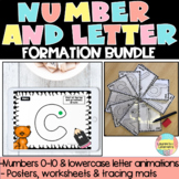 Letter & Number Formation Animated Powerpoint with rhymes, posters, worksheets