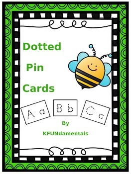 Letter & Number Formation Dotted Push-Pin Cards - Great for Fine-Motor