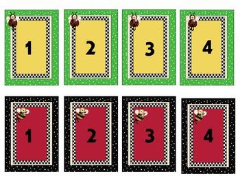 Letter & Number Match Pocket Chart Games