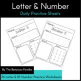 Letter & Number Practice Worksheets