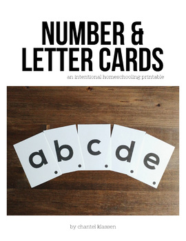 Letter & Number Printable Cards