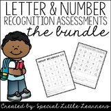 Letter & Number Recognition Assessments (The Bundle)