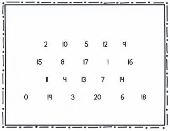 Letter, Number, Shape Assessment - Cumulative Assessment