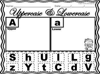 Letter Number Sort (Uppercase & Lowercase Sort) 1-20 Number Sort