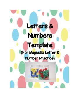 Letter & Number Template for Magnets