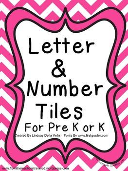 Letter & Number Tiles For Pre K/K
