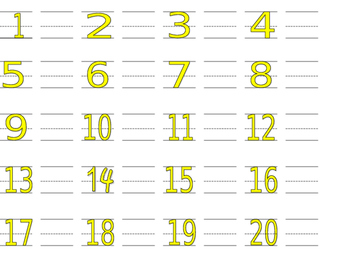 Letter, Number Trace and Make Worksheets