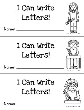 Letter & Number Writing Practice Strips/Booklets