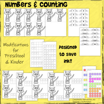 Letter, Number, and Color Centers (Cat, Shoes, and Buttons Theme)