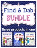 Find and Dab Bundle: Letter, Number and Shape Identification