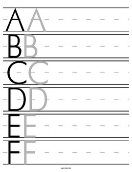 Letter & Number writing guide