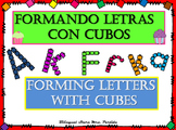 Letter-Numbers-Shapes BUNDLE withCUBES-Bilingual Stars Mrs. Partida