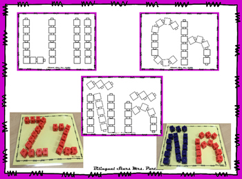 Center for Forming Letter with CUBES Letras-Bilingual Stars Mrs. Partida