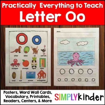 Letter O | Alphabet Printables and Centers