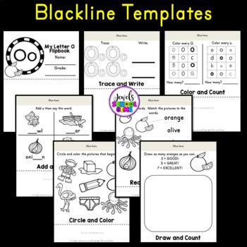 Letter O Alphabet Flip Book (Alphabet Interactive Notebook Activities)