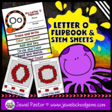Letter O Alphabet Flip Book (Alphabet Interactive Notebook