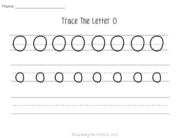 Letter O Activity Pack