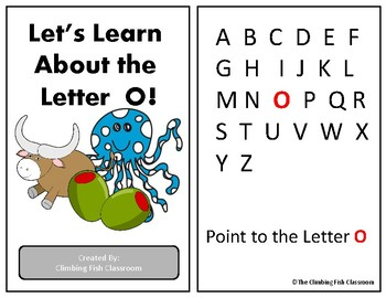 Letter 'O' Adapted Book