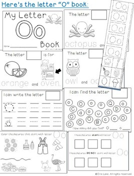 Letter O: Alphabet Activity Book