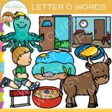 Letter O Clip Art { Alphabet Beginning Sounds Clip Art}