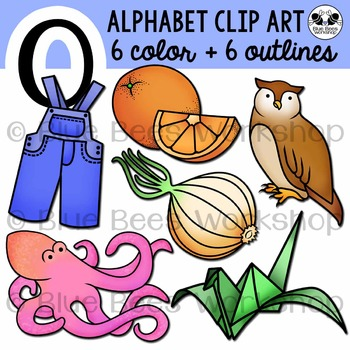 Letter O Clip Art Alphabet / Beginning Sound O