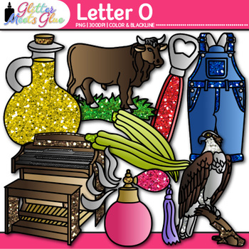 Letter O Alphabet Clip Art {Teach Phonics, Recognition, and Identification}