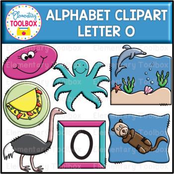 Letter O Alphabet Clipart  (Beginning Sounds)