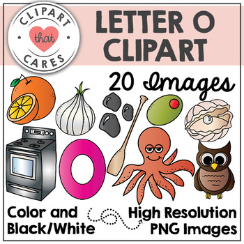 Letter O Alphabet Clipart by Clipart That Cares