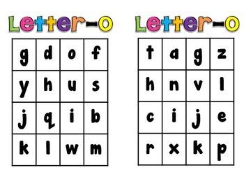 Letter-O Alphabet Game