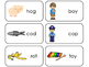 Letter 'O' CVC Picture and Word Printable Flashcards. Preschool-Kindergarten ELA