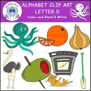 Letter O Clip Art {Beginning Sounds} Alphabet