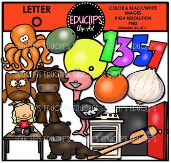 Letter O Clip Art Bundle {Educlips Clipart}