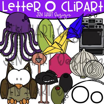 Letter O Clipart - Beginning Sound Clip Art {Jen Hart Clipart}