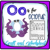 Letter O Craft: Alphabet Craft, Oo Craft, O is for Octopus Craft & Worksheet