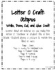 Letter O Craft: Octopus