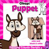 Letter O Craft - Paper Bag Puppet Okapi
