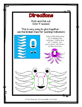 Letter O Craftivity - Octopus - Zoo Phonics Inspired - Color & BW Versions