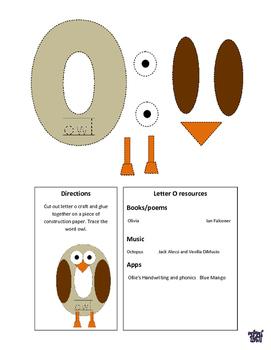 Letter O Cutout Craft