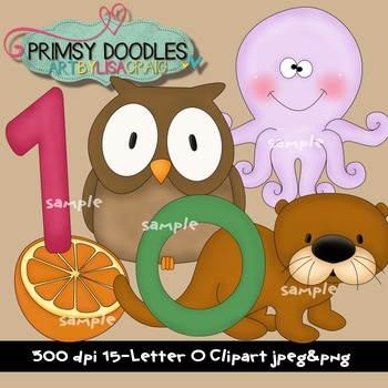 Letter O Early Learning Clipart