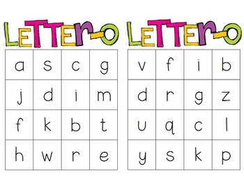 Letter-O: First Sound and Letter Recognition BINGO