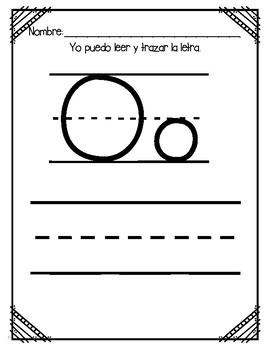 Aprendiendo la letra O