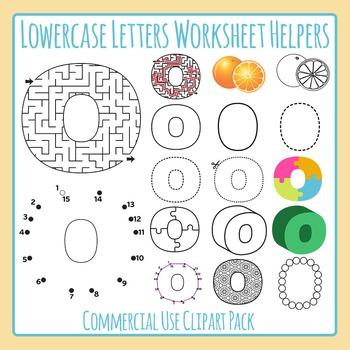 Letter O (Lowercase) Worksheet Helper Clip Art Set For Com