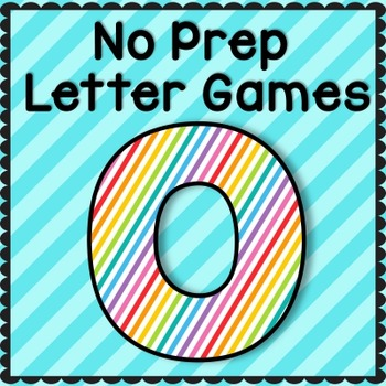 Letter O No Prep Letter Games: RTI, Intervention, Preschool, TK