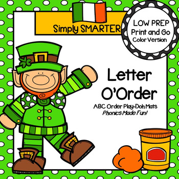 Letter O'Order:  LOW PREP Alphabetical Order Play Dough Mats