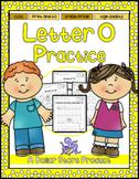 Letter O Practice Printables