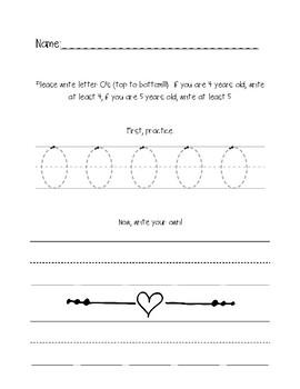 Letter O Practice Sheet