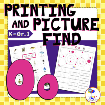 Letter O Printing and Picture Find Printables | myABCdad Learning for Kids