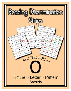 Letter O Reading Discrimination Strips for Fluency and Alphabet Recognition