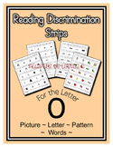 Letter O Reading Discrimination Strips for Fluency and Alp